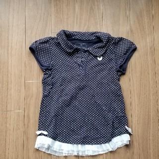 ナルミヤ インターナショナル(NARUMIYA INTERNATIONAL)のドット柄黒ポロシャツ(Tシャツ/カットソー)