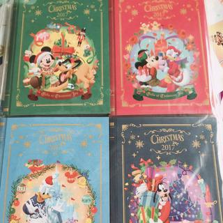 ディズニー(Disney)の【ディズニーランド限定】クリスマス メモセット(キャラクターグッズ)