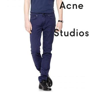 アクネ(ACNE)の新品 ACNE STUDIOS 細身ストレッチ スキニー NAVY W30(デニム/ジーンズ)