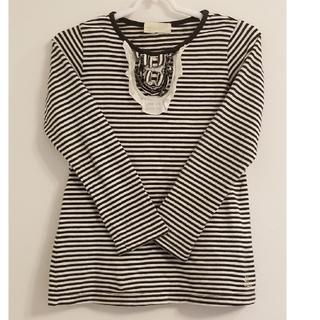 フランシュリッペ(franche lippee)の フランシュリッペ ボーダーTシャツ、KP デニム ジャンパースカート110cm(Tシャツ/カットソー)