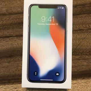 アップル(Apple)のferiさま iphoneX 64GB 新品 simフリー シルバー(スマートフォン本体)