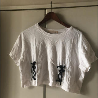 ハニーミーハニー(Honey mi Honey)のHoneymiHoneyレースアップTシャツ(Tシャツ(半袖/袖なし))