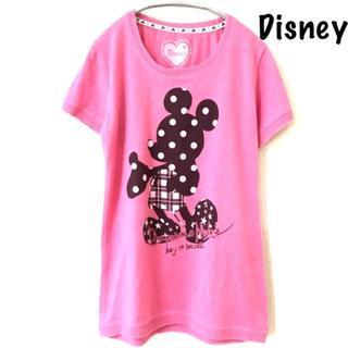 ディズニー(Disney)の【Disney】半袖Tシャツ ニット ミッキー ドット チェック 星(Tシャツ(半袖/袖なし))