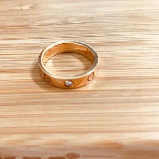 カルティエ(Cartier)のカルティエ ラブリングミニ ピンクゴールド ダイヤ(リング(指輪))