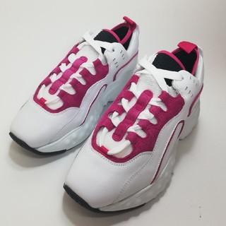 アクネ(ACNE)のManhattan Nappa - white/pink 38(スニーカー)