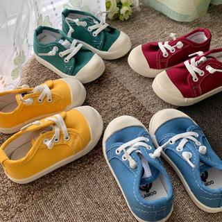 スニーカー スリッポン シューズ 女の子 男の子 子供靴 キッズ靴 靴紐(スニーカー)