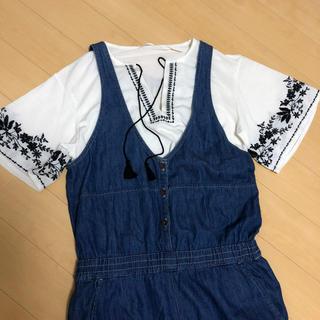 ジーユー(GU)のGU 刺繍カットソー(カットソー(長袖/七分))