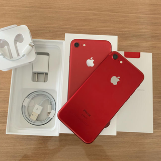 Apple - 美品 iPhone 7 128GB RED SIMフリー