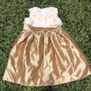 キャサリンコテージ(Catherine Cottage)のキャサリンコテージ ワンピース ドレス 80 ゴールド ベージュ ホワイト(ドレス/フォーマル)