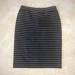 ムジルシリョウヒン(MUJI (無印良品))の無印良品 カットソー  ボーダータイトスカート(ひざ丈スカート)