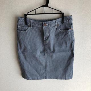 ムジルシリョウヒン(MUJI (無印良品))の無印良品 ストライプ スカート (ひざ丈スカート)