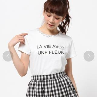 ジャスグリッティー(JUSGLITTY)の月末お値下げ 定価¥14,040 JUSGLITTY ビジューTシャツ(Tシャツ(半袖/袖なし))