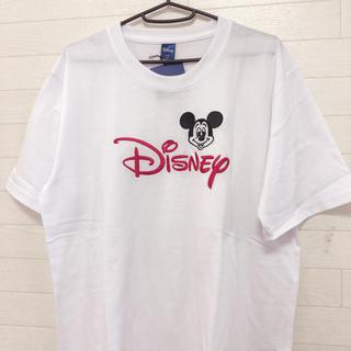 ディズニー(Disney)の新品 LL/XL  メンズ ディズニー ミッキー  刺繍ビックTシャツ (Tシャツ/カットソー(半袖/袖なし))