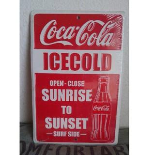 Coca Cola Polka Dots Metal License Plate