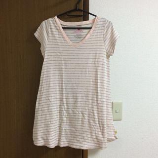 ラヴィジュール(Ravijour)のボーダーTシャツ♡ピンク×グレー(Tシャツ(半袖/袖なし))