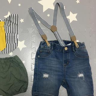 エイチアンドエム(H&M)のH&M 男の子サスペ付きパンツ(パンツ/スパッツ)