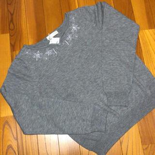 アプワイザーリッシェ(Apuweiser-riche)のハートネック刺繍 アンジェリーナプルオーバー(ニット/セーター)