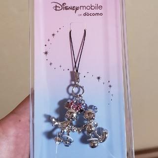 ディズニー(Disney)のミッキー&ミニースワロフスキーストラップ(ストラップ/イヤホンジャック)