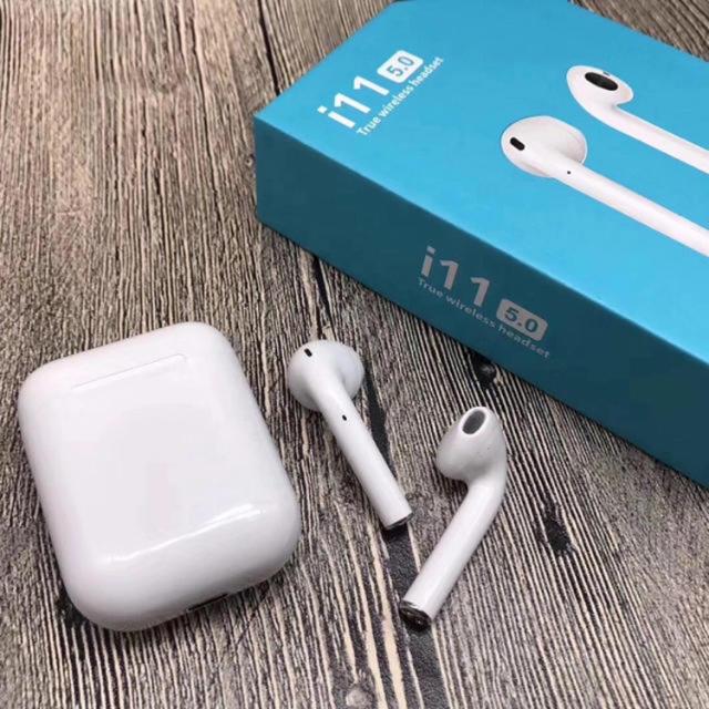 iPhone(アイフォーン)のワイヤレスイヤホン i11 tws スマホ/家電/カメラのオーディオ機器(ヘッドフォン/イヤフォン)の商品写真