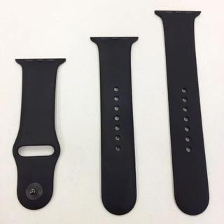 アップルウォッチ(Apple Watch)のアップル純正 スポーツバンド 黒 Apple Watch 42mm用(その他)