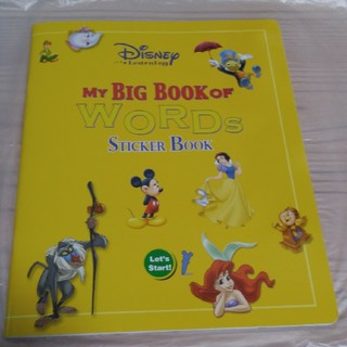 ディズニー(Disney)のMY BIG OF WORDS STICKER BOOK(知育玩具)