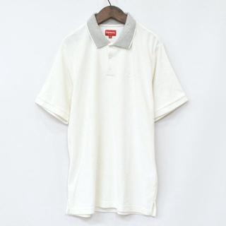 シュプリーム(Supreme)の17ss Supreme Striped Collar Terry Polo M(ポロシャツ)