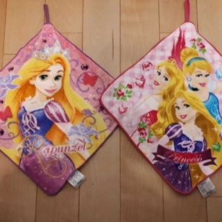 ディズニー(Disney)の新品ディズニープリンセス&ラプンツェルループタオル抗菌防臭加工2枚セット(タオル)