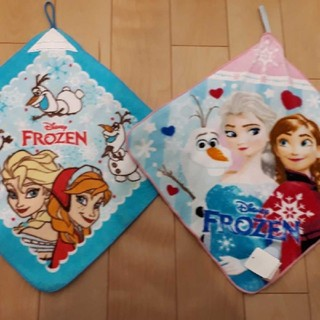 ディズニー(Disney)の新品アナと雪の女王ループタオル抗菌防臭加工2枚セット(タオル)