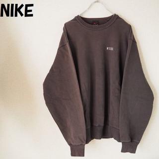NIKE - 【人気】ナイキ 刺繍ワンポイントロゴスウェット サイズL ビッグシルエット
