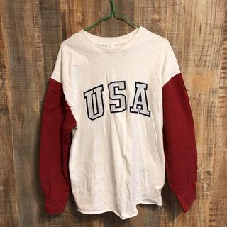 マウジー(moussy)のUSAロンT(Tシャツ/カットソー(七分/長袖))