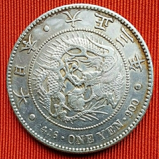 E135 一円銀貨 大正3年 26,93g(貨幣)