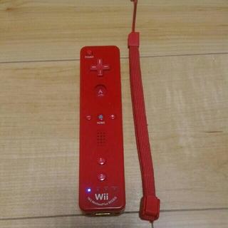 Wii - ⑭ wiiリモコンプラス 赤 ストラップ付