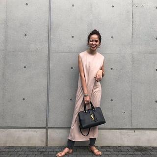 Demi-Luxe BEAMS - ATON エイトン ノースリーブドレス ワンピース