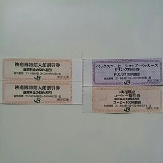 ジェイアール(JR)のハッピー企画😄鉄道博物館大宮ご入館半額割引券2枚&オマケ(美術館/博物館)