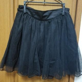 ローリーズファーム(LOWRYS FARM)のレース ミニスカート 黒(ミニスカート)