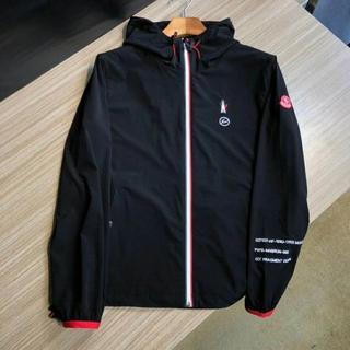 モンクレール(MONCLER)のMONCLER×FRAGMENTジャケット/薄い生地/黒い (ブルゾン)