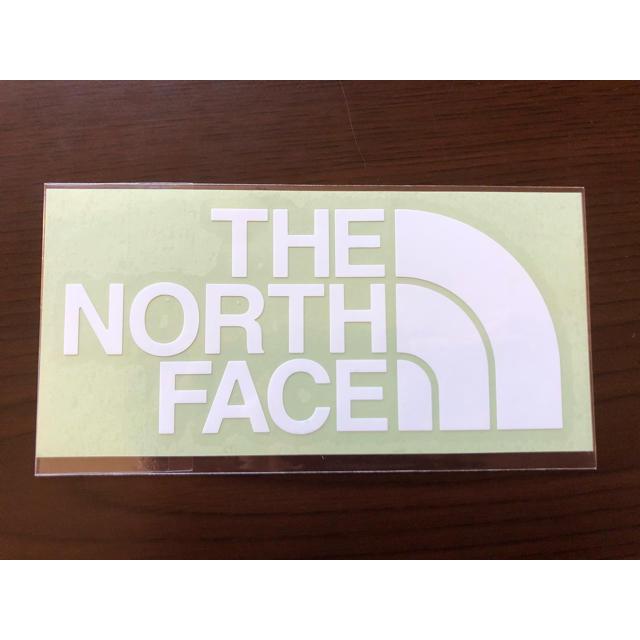 THE NORTH FACE(ザノースフェイス)のノースフェイス ステッカー 白 自動車/バイクのバイク(ステッカー)の商品写真