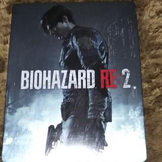プレイステーション4(PlayStation4)のバイオハザードRE2 ゲオ特典スチールブック(その他)