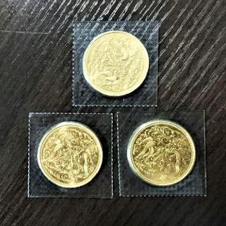 天皇陛下御在位60年記念10万円金貨 3枚(貨幣)