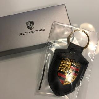 ポルシェ(Porsche)のポルシェキーホルダー【ブラック】(キーホルダー)