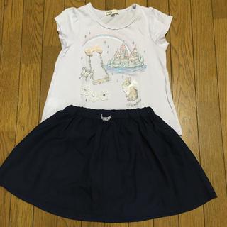 エニィファム(anyFAM)の【美品あり】エニィファム/スカート&Tシャツ/110cm(スカート)