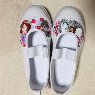 ディズニー(Disney)の【新品】ちいさなプリンセスソフィア 上靴18cm(スクールシューズ/上履き)