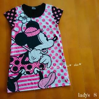 ディズニー(Disney)の【lady's】ミニー プリント 水玉 星柄 半袖Tシャツ S(Tシャツ(半袖/袖なし))