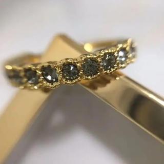 スワロフスキー ハーフエタニティリング ブラックダイヤ(リング(指輪))