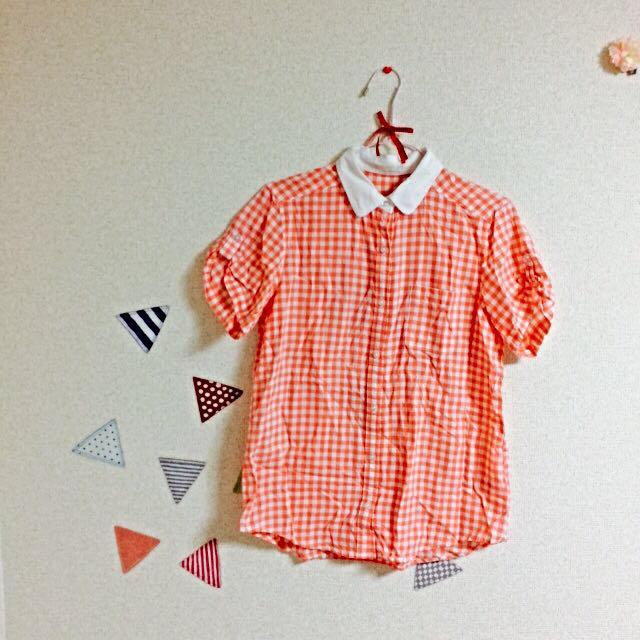 GU(ジーユー)のギンガムチェック シャツ レディースのトップス(シャツ/ブラウス(半袖/袖なし))の商品写真