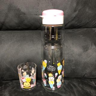 ディズニー(Disney)のプレミアムガラスクールポット&グラスセット(グラス/カップ)