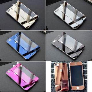 アルミバンパーケース/(前後)鏡面強化ガラス保護フィルム(Androidケース)