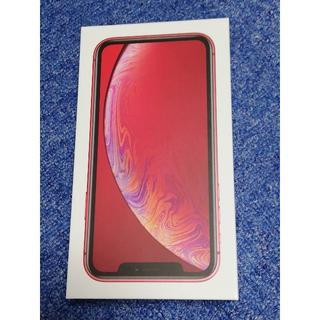 アップル(Apple)のSIMフリー iPhoneXR 128GB レッド(赤) SIMロック解除済み (スマートフォン本体)