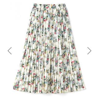 グレイル(GRL)のグレイル フラワープリーツスカート Lサイズ(ロングスカート)