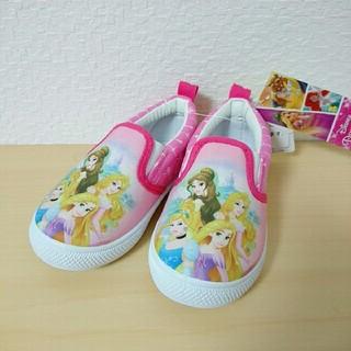 ディズニー(Disney)の新品★15cmプリンセスシンデレラベルラプンツェル スリッポン シューズ 靴(スリッポン)